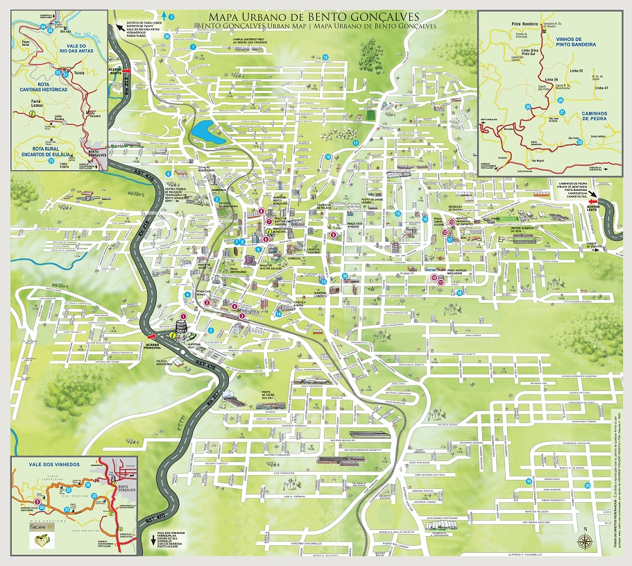 Mapa de Bento Gonçalves